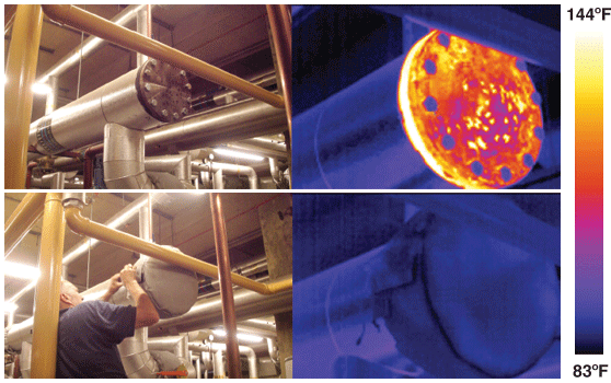 Pipe and Valve Insulation Thermography Study
