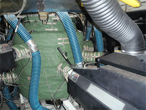 Blown film extrusion insulation