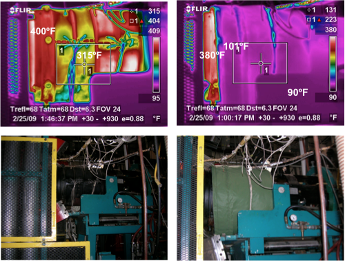 Extruder Insulation Thermography Test
